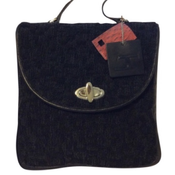 Jerry Terrence Handbags - Jerry Terrence Vintage Black Carpet Bag